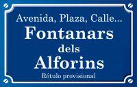 Fontanars dels Alforins (calle)