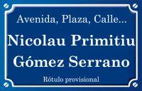 Nicolau Primitiu Gómez Serrano (calle)