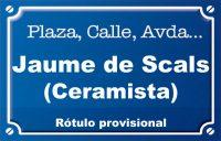 Ceramista Jaume de Scals (calle)