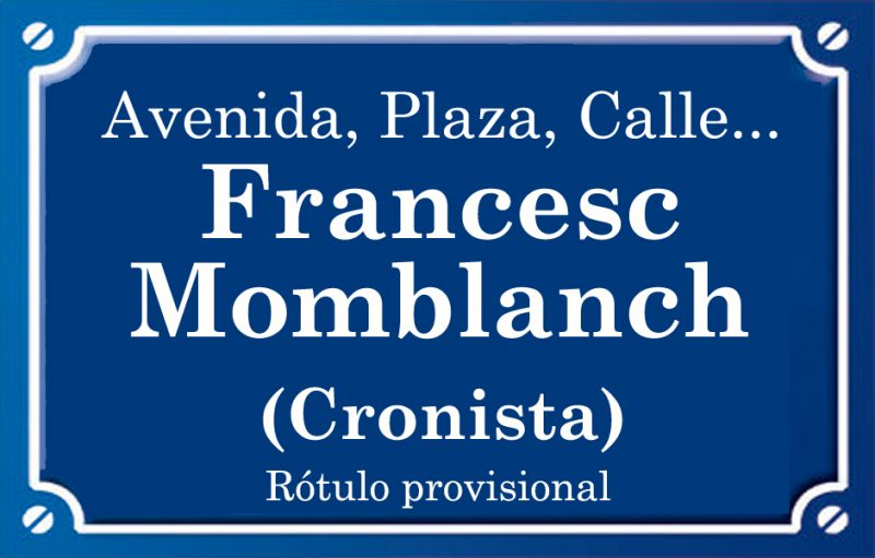 Cronista Francesc Momblanch (plaza)