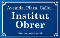 Institut Obrer de València (avenida)