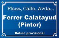 Pintor Ferrer Calatayud (calle)