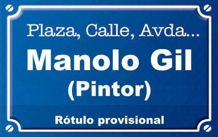 Pintor Manolo Gil (calle)