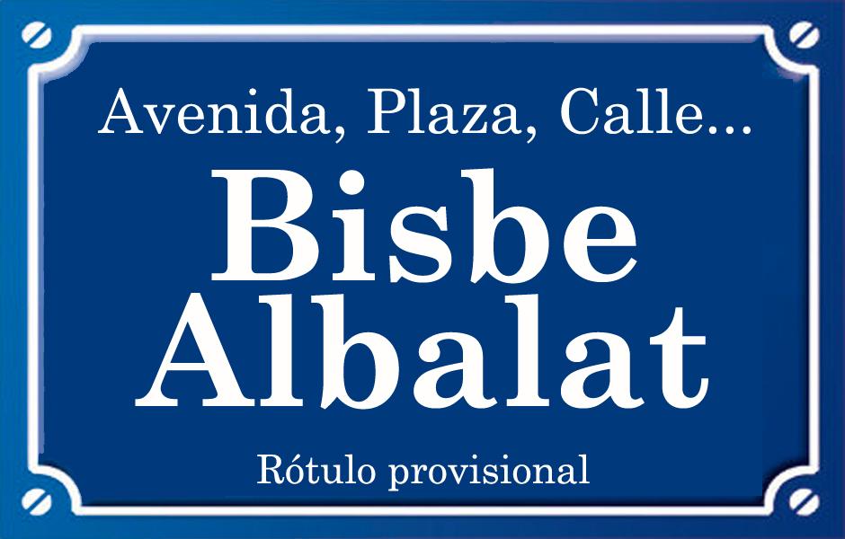 Bisbe Albalat (calle)
