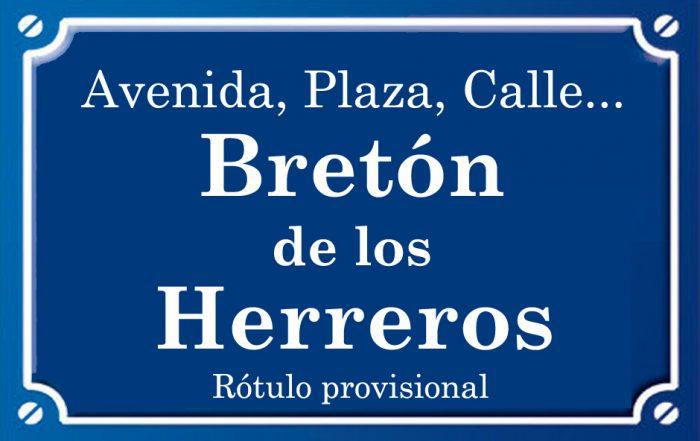 Bretón de los Herreros (calle)