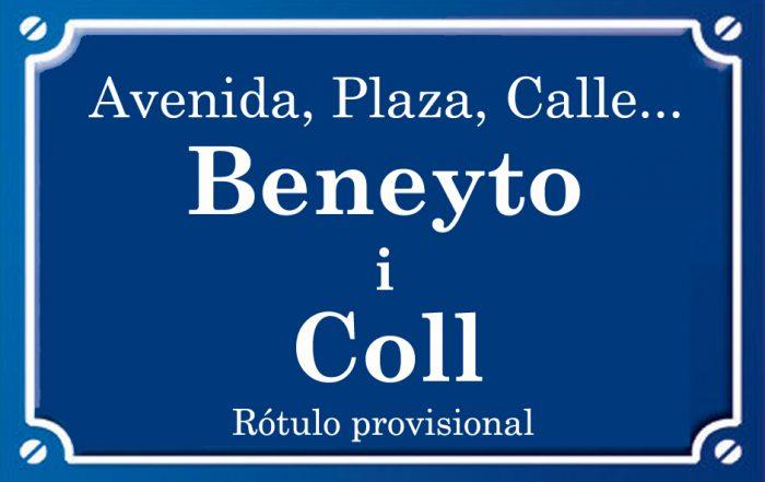 Beneyto i Coll (plaza)