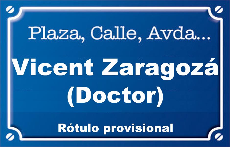 Doctor Vicent Zaragozà (calle)