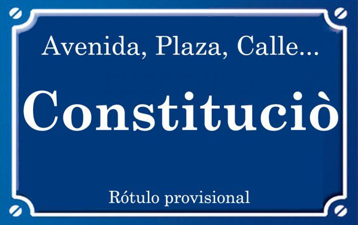 Constituciò (avenida)