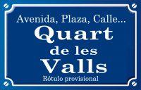 Quart de les Valls (calle)