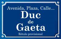 Duque de Gaeta (calle)