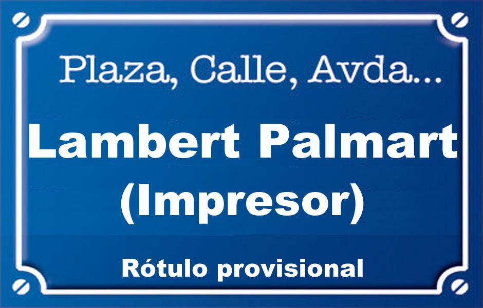 Impresor Lambert Palmart (calle)