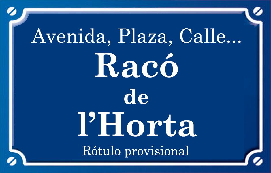 Racó de l'Horta (plaza)